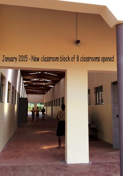 New classroom block of 8 classrooms opened January 2015